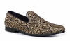 Giorgio Brutini Black Yellow Paisley Smoker Loafer Slippers 179191-4