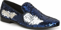 Giorgio Brutini Blue Sequin Designer Smoking Loafers 179303