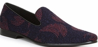 Giorgio Brutini Blue Sparkle Designer Smoking Slippers 179313-0