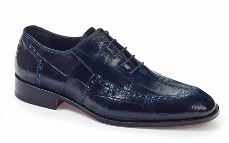 Mauri Alligator Shoes Wonder Blue Made in Italy Sammartino 4869 - click to enlarge