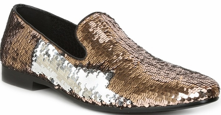 Giorgio Brutini Gold Sequin Unique Smoking Slippers 179304 - click to enlarge