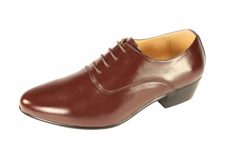 Ditalo Mens Brown Leather Cuban Heel Lace Up Shoes 5633 - click to enlarge