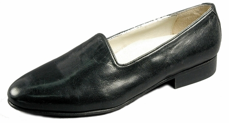 Giorgio Brutini Mens Black  Pump Leather Loafers 244371 IS - click to enlarge