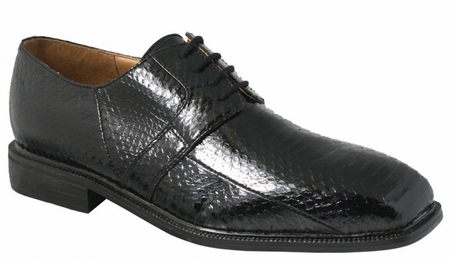 Giorgio Brutini Mens Black Snakeskin Dress Shoes 155221 - click to enlarge