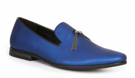Giorgio Brutini Mens Blue Pearl Slipper Loafer Tassel 179283-2 - click to enlarge