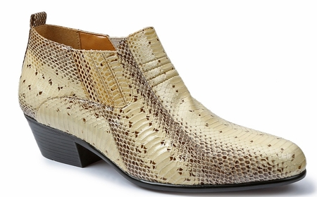 Giorgio Brutini Mens Natural Snakeskin Cuban Heel Boots 150649-1 - click to enlarge