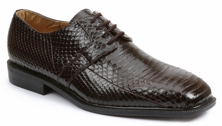 Giorgio Brutini Mens Brown Snakeskin Shoes 155222  - click to enlarge