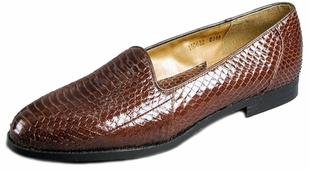 Giorgio Brutini Mens Brown Snakeskin Loafers  150632  - click to enlarge