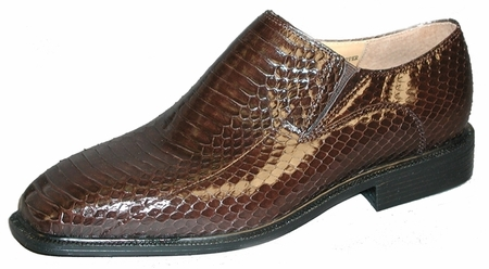 Giorgio Brutini Mens Brown Snakeskin Loafers 155212  - click to enlarge