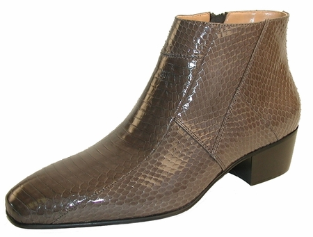 Giorgio Brutini Mens Grey Snakeskin Cuban Heel Boots 155498    - click to enlarge