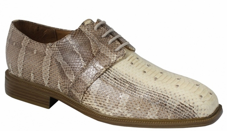 Giorgio Brutini Natural Snakeskin Shoes 155229-2  - click to enlarge