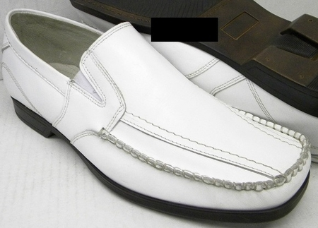 Giorgio Brutini Mens New White Leather Loafers 478216-1 - click to enlarge