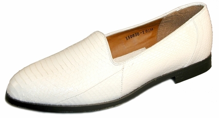 Giorgio Brutini Mens White Snakeskin Loafers  150636-1 - click to enlarge