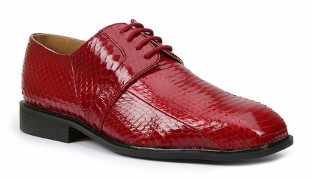 Giorgio Brutini Mens Red Snakeskin Dress Shoes 155220 - click to enlarge