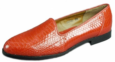 Giorgio Brutini Mens Red Snakeskin Loafers  150630 - click to enlarge
