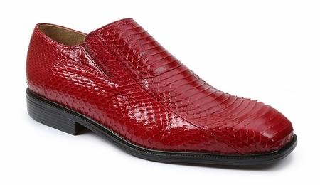 Giorgio Brutini Mens Red Snakeskin  Loafers 155210 - click to enlarge