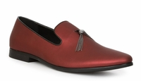 Giorgio Brutini Mens Shiny Red Slipper Loafer Tassel 179280