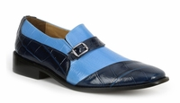 Giorgio Brutini Shoes Mens Blue Sky Gator Texture Slip On 211053 IS