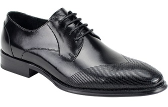 Giorgio Venturi Black  Modern  Wingtips Style Dress Shoes Edwyn