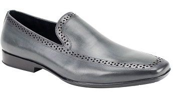 Giovanni Grey Mens Loafer Designer Shoes Derby