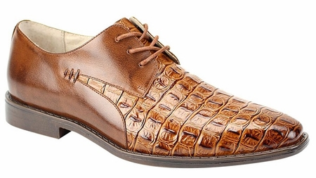 Giovanni Mens Crocodile Print Cognac Chiurch Shoes 2525 - click to enlarge