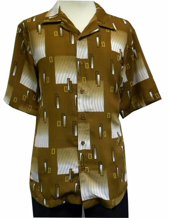 Gochu Men's Rust Design Short Sleeve Casual Shirt 2006 - click to enlarge
