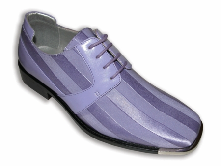 Hugo Vitelli Mens Lavender Italian Style Tuxedo Shoes SS17 IS - click to enlarge