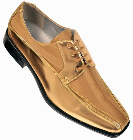 Tuxedo Shoes Mens Gold Stripe Bolano 179 IS - click to enlarge