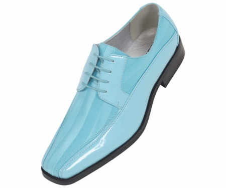 Tuxedo Shoes Mens Turquoise Stripe Bolano 179 IS - click to enlarge
