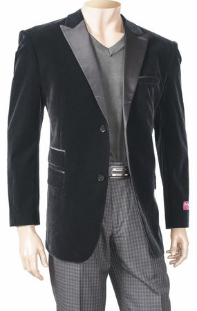 Inserch Mens Black Velvet Blazers 525 IS - click to enlarge