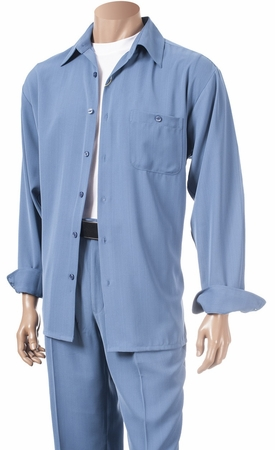Inserch Mens China Blue Microfiber Walking Suits 13A56 - click to enlarge