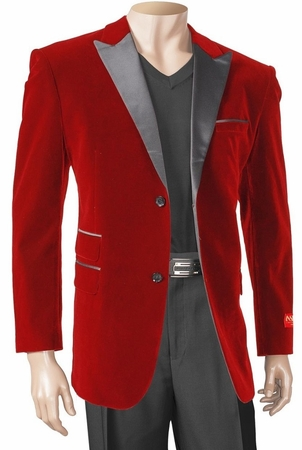 Inserch Mens Red Velvet Blazers 525 IS - click to enlarge