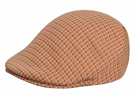 Kangol Hats Beige Houndstooth 507 Cap - click to enlarge
