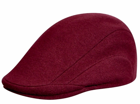 Kangol Hats Mens Burgundy 100% Wool Flannel 507 - click to enlarge