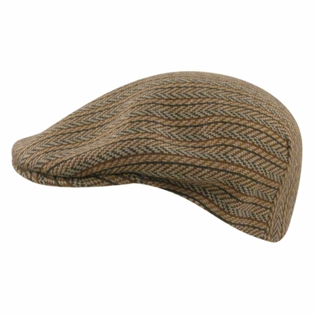 Kangol Hats Mens Sand Herringbone  Wool  504 Hat Size Small - click to enlarge