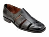 Belvedere Sandals Mens Black Alligator Calfskin Closed Toe Land V41