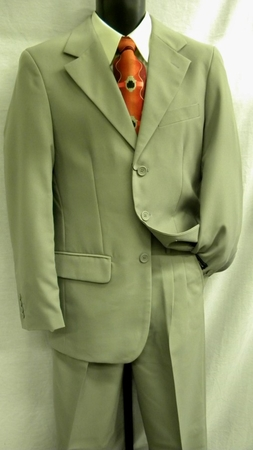 Lucci Mens 3 Button Single Breasted Grey Suit N3PP  - click to enlarge