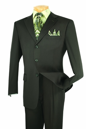 Lucci Mens 3 Button Single Breasted Olive Suit N3PP - click to enlarge