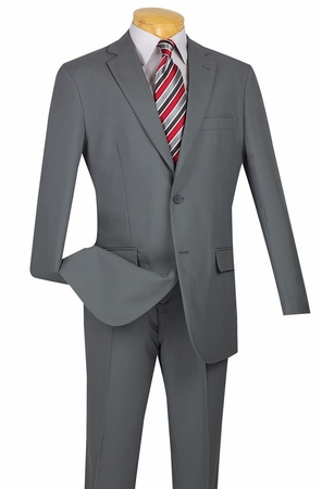 Lucci Mens Cheap Gray Slim Fit Suit S-2PP - click to enlarge
