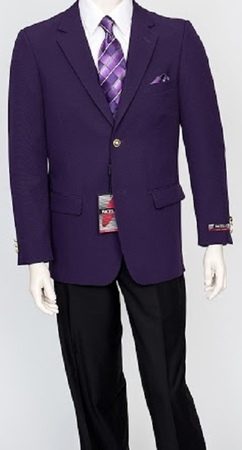 Pacelli Mens Classic Dark Purple Blazer Jacket Blair 70049 - click to enlarge