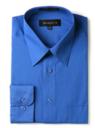 Slim Fit Dress Shirt Solid Royal Marquis 009SL