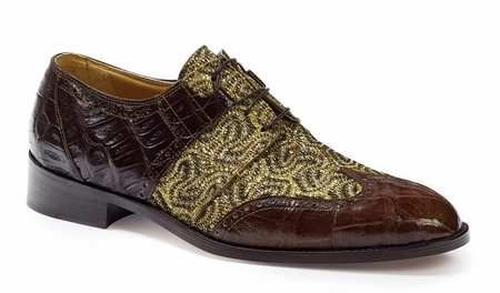 Mauri Alligator Crocodile Wingtip Shoes Caracalla 53124 - click to enlarge