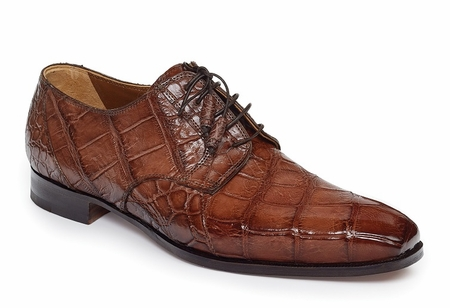 Mauri Alligator Shoes Paladio Mens Sport Rust Lace Up 1059 - click to enlarge