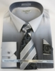 Men Dress Shirts with Ties Edgy Black Color Blend DE DS3795