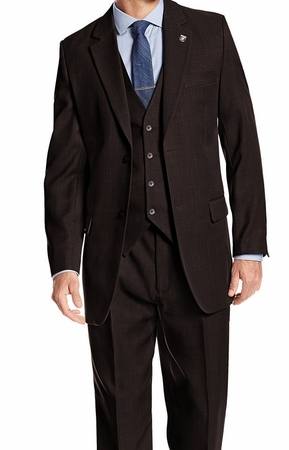 Men's 1920s Vintage Suit Brown Three Pc. Pleated Pants Suny 4017 - click to enlarge