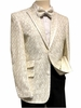 Mens Cream Floral Blazer Entertainer Jacket After Midnight 8032-906