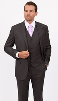 Mens 3 Piece Suit Dark Gray Wedding Style Demantie M302-13