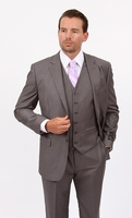 Mens 3 Piece Suit Gray Wedding Style Demantie M302-14