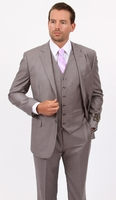 Mens 3 Piece Suit Light Gray Wedding Style Demantie M302-05