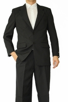 Mens Basic Black Suit 2 Button Single Breast Fortini 702P